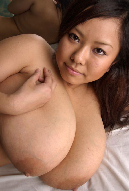 asian tits natural Busty with monster